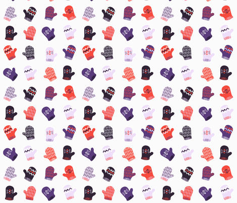 Many Mittens fabric by lsk235 on Spoonflower - custom fabric