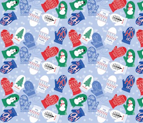 Many_Mittens fabric by new_nelly on Spoonflower - custom fabric