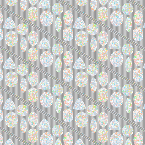 Opals on Gray fabric by siya on Spoonflower - custom fabric