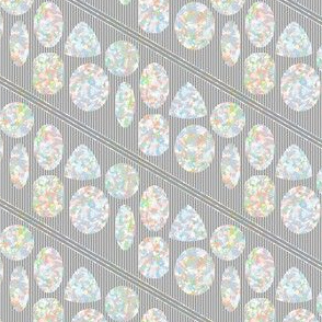 Opals on Gray