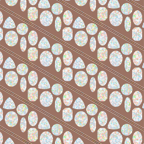 Opals on Brown fabric by siya on Spoonflower - custom fabric