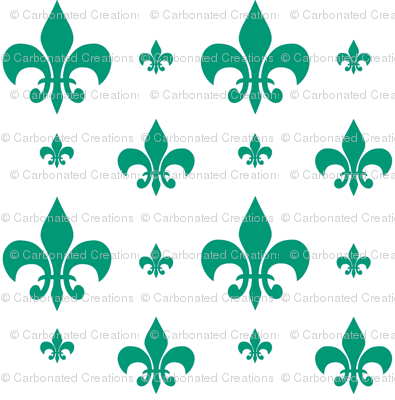 Emerald Fleur-de-lis