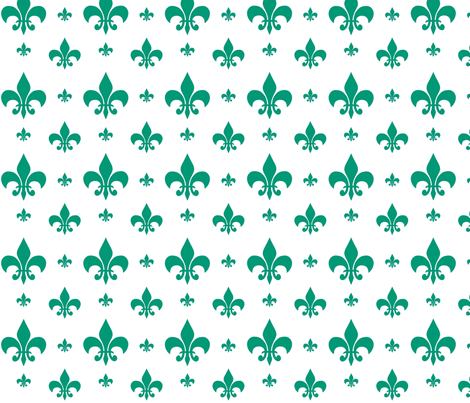 Emerald Fleur-de-lis fabric by carbonatedcreations on Spoonflower - custom fabric