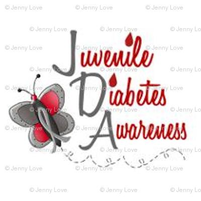 Juvenile Diabetes Awareness Fabric Fabric Jennylove