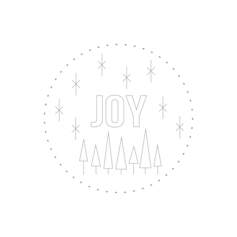 Joy Embroidery Pattern fabric by saltyoat on Spoonflower - custom fabric