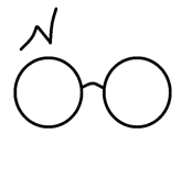 wizard glasses white