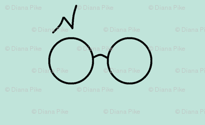 wizard glasses blue