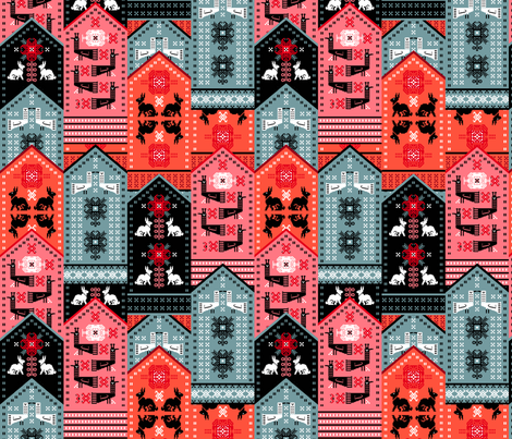 Favorite Mittens fabric by ruusulampi on Spoonflower - custom fabric