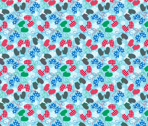 mittens fabric by kwikdrw on Spoonflower - custom fabric