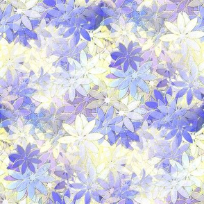 Impressionist Flowers in Pantone Violet Tulip Spg 2014