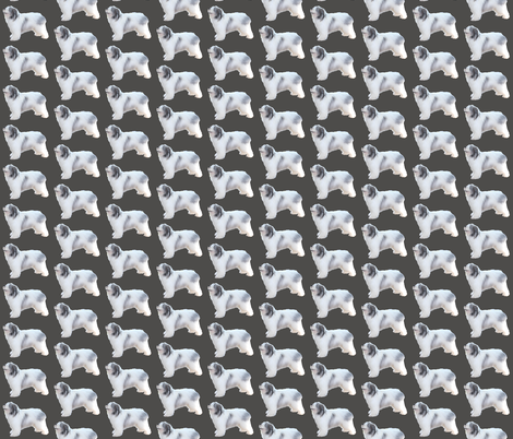 Polish Lowland Sheepdog fabric by romatex on Spoonflower - custom fabric