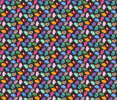Mittens fabric by beebumble on Spoonflower - custom fabric