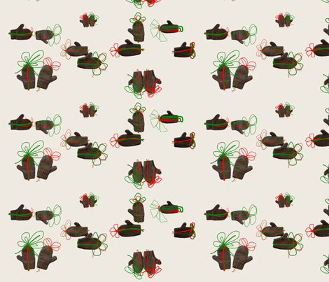Mitten Gifts fabric by miomucaro on Spoonflower - custom fabric