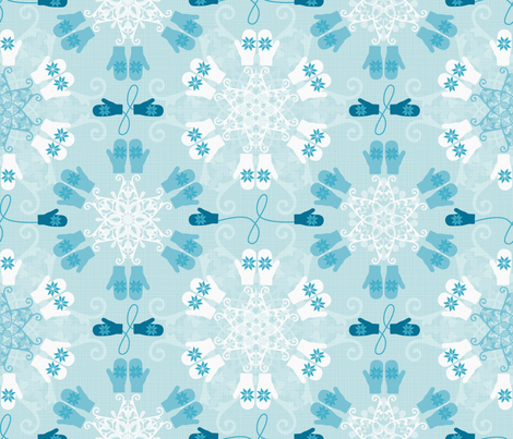 Julie's Snow Mittens Storm fabric by juliesfabrics on Spoonflower - custom fabric