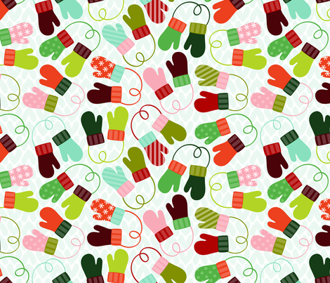 Mis-matched Mittens fabric by nadiahassan on Spoonflower - custom fabric