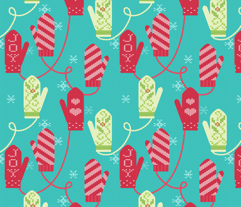 Knittens fabric by hootenannit on Spoonflower - custom fabric