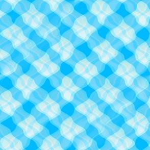 Wavy Blue Crisscrosses