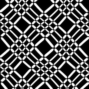Black and White Crisscrosses