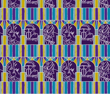 Film noir deco style 5 fabric by ms_majabird on Spoonflower - custom fabric