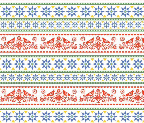 Fair Isle Wrapping Paper fabric - elizajanecurtis - Spoonflower