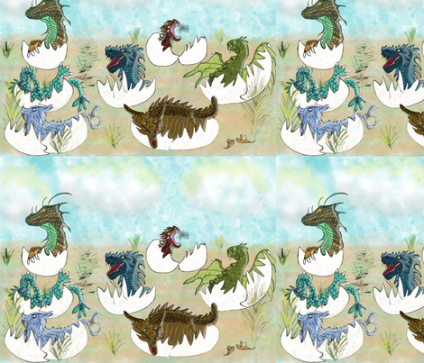 Dragon Maternity Ward fabric by lynnemarie on Spoonflower - custom fabric