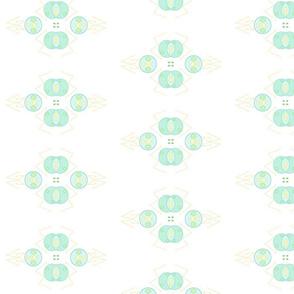 Geometric Blue Green