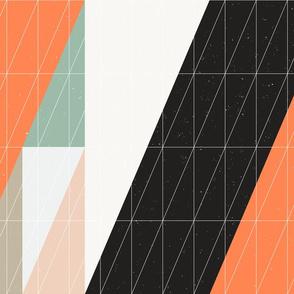 Triangles on Orange by Friztin