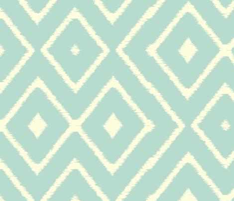ikat_diamond_spa fabric by littlerhodydesign on Spoonflower - custom fabric