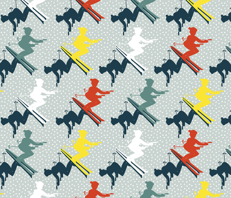 Shushing the Slopes fabric by glimmericks on Spoonflower - custom fabric