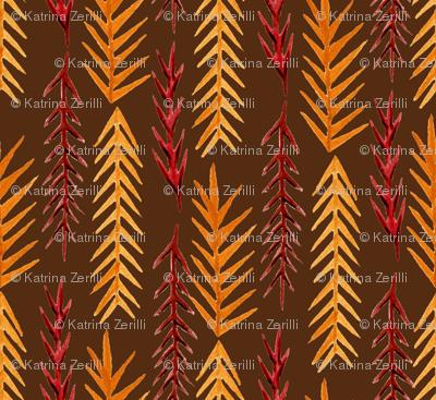 Dark Autumn Pine Leaves