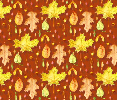 Autumn Leaf Collection fabric by katrinazerilli on Spoonflower - custom fabric