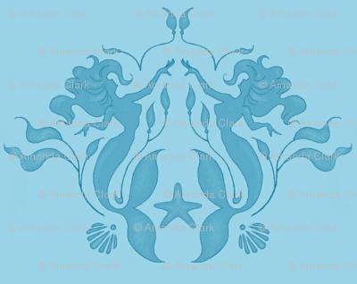 Mermaids - blue tone on tone