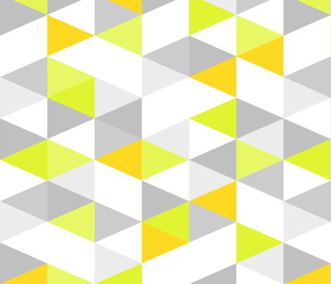 Key Lime Pie Triangle fabric by studiocharm on Spoonflower - custom fabric