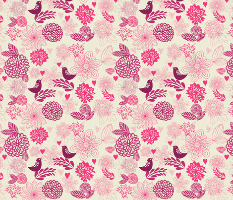 birds in love fabric by anastasiia-ku on Spoonflower - custom fabric