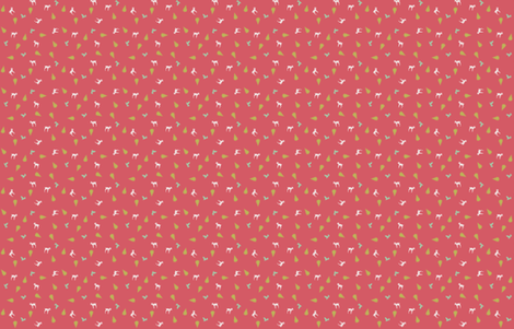 deer toss coral fabric by imaginegnats on Spoonflower - custom fabric