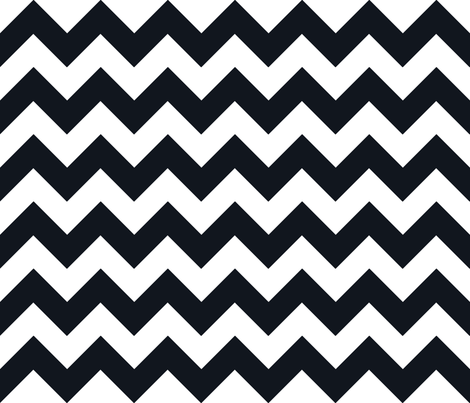 Chevrons Black & White fabric by juliesfabrics on Spoonflower - custom fabric