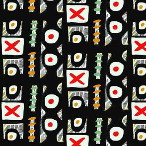 Pattern red x