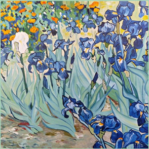 cindy's irises pillow