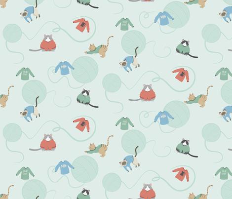 Sweater Kitties fabric by lunasol on Spoonflower - custom fabric