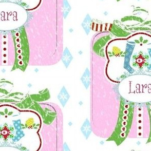 Holiday Gift Stockings -Large Blue/ Berry Personalized LARA
