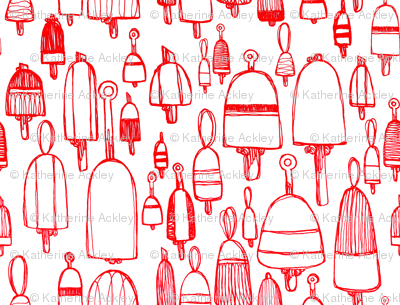 Buoyant Designs in Red