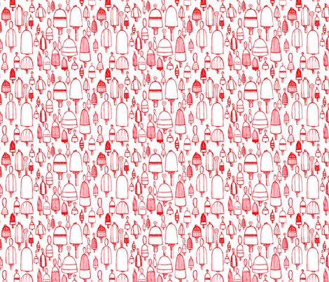 Buoyant Designs in Red fabric by inky_blue_studio on Spoonflower - custom fabric