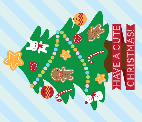 Have A Cute Christmas fabric by marcelinesmith on Spoonflower - custom fabric