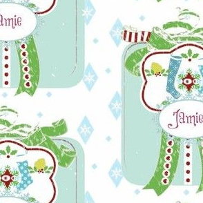 Holiday Blue Gift Stockings -Large Blue /Berry PERSONALIZED Jamie