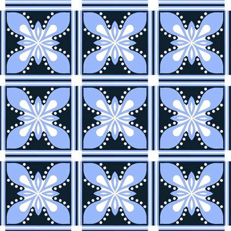 Holiday  blue fabric by paragonstudios on Spoonflower - custom fabric