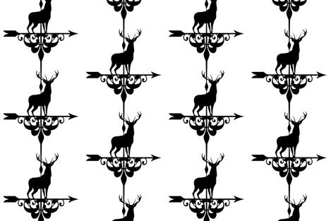 windy elk fabric by keweenawchris on Spoonflower - custom fabric