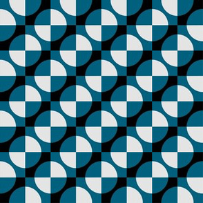 Harlequin circles and squares