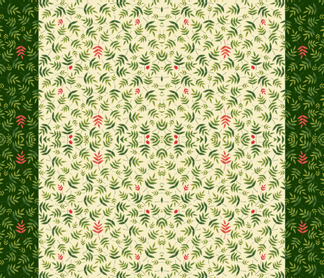 NandinaBorder fabric by melhales on Spoonflower - custom fabric