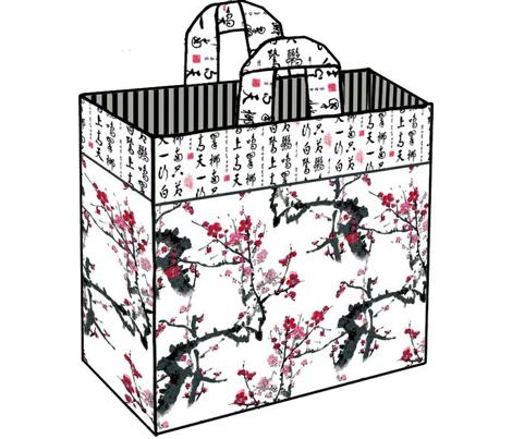 Chinese Cut'N'Sew Reversible Shopping Bag