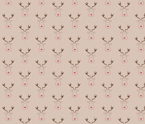 ASL ILY_ReindeerBrown fabric by marykane on Spoonflower - custom fabric